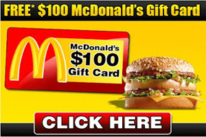 Win $100 mcdonalds gift card